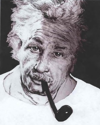 Einstein Pencil Drawing